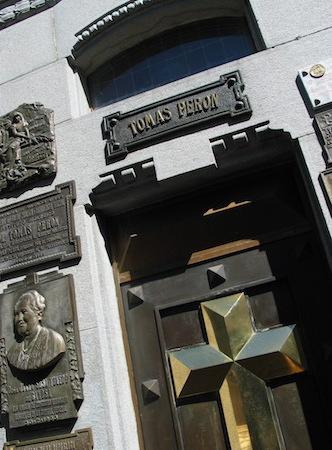 Argentina, Buenos Aries, Chacarita, cemetery, Juan Domingo Perón, mausoleum