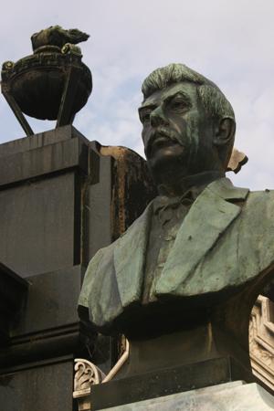 Recoleta Cemetery, Buenos Aires, bust