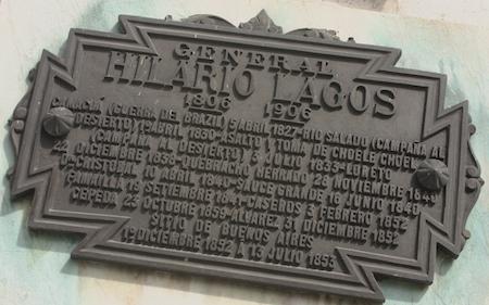 Buenos Aires, Recoleta Cemetery, General Hilario Lagos, plaque
