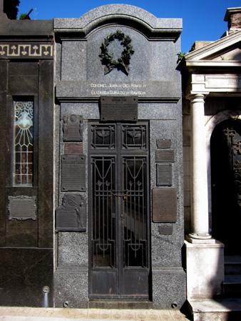 Recoleta Cemetery, Buenos Aires, Coronel Juan de Dios Rawson