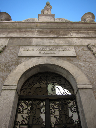 Recoleta Cemetery, Buenos Aires, Isaac Fernández Blanco
