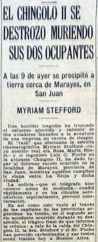 La Nación, Chingolo II, Myriam Stefford