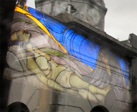 Recoleta Cemetery, Buenos Aires, Jorge Larco, stained glass