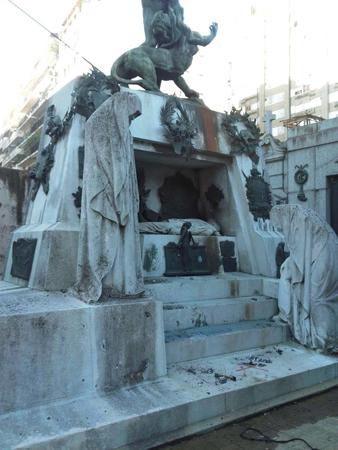 Buenos Aires, Recoleta Cemetery, bombing, Ramón Falcón, Télam