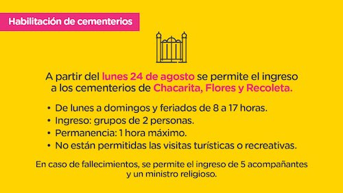 Recoleta Cemetery, Buenos Aires, announcement, reopening
