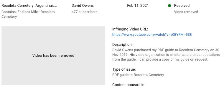 YouTube, claim